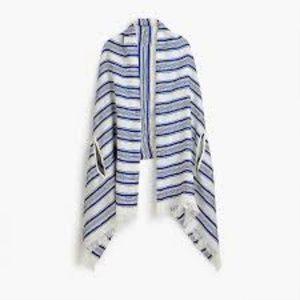 j crew stripe shawl